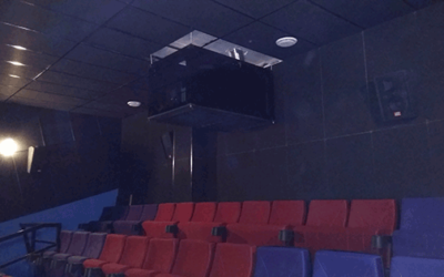 Ceiling-mount projector enclosure