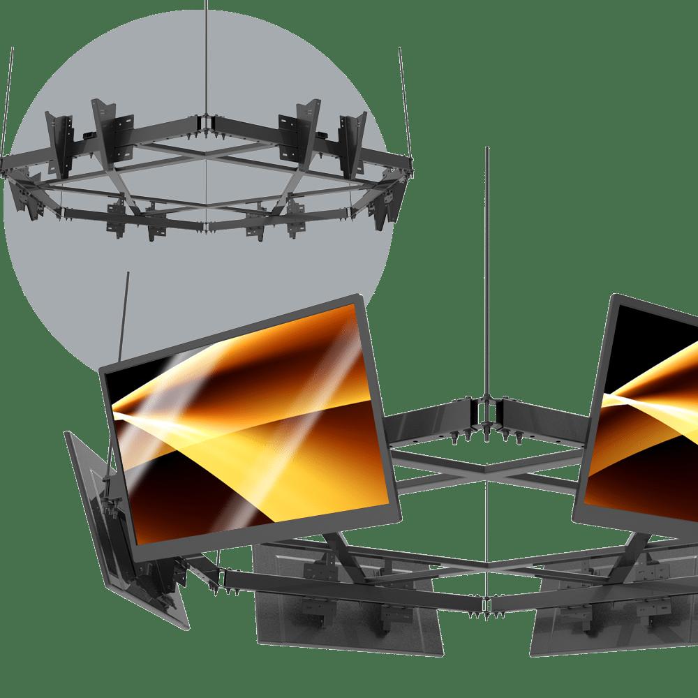 Video Cluster Ceiling Mounts (Standard & Custom Cluster Video Ceiling Mounts)