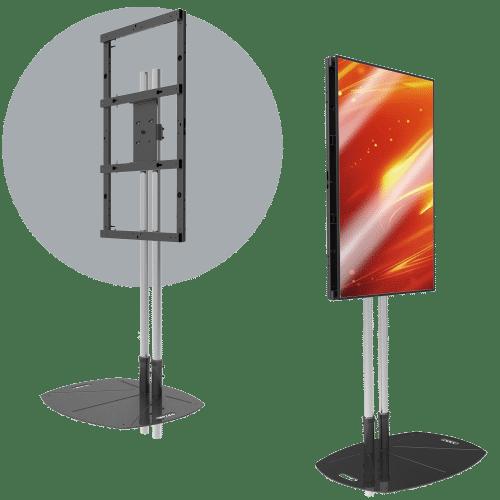Single Portrait LCD Mount