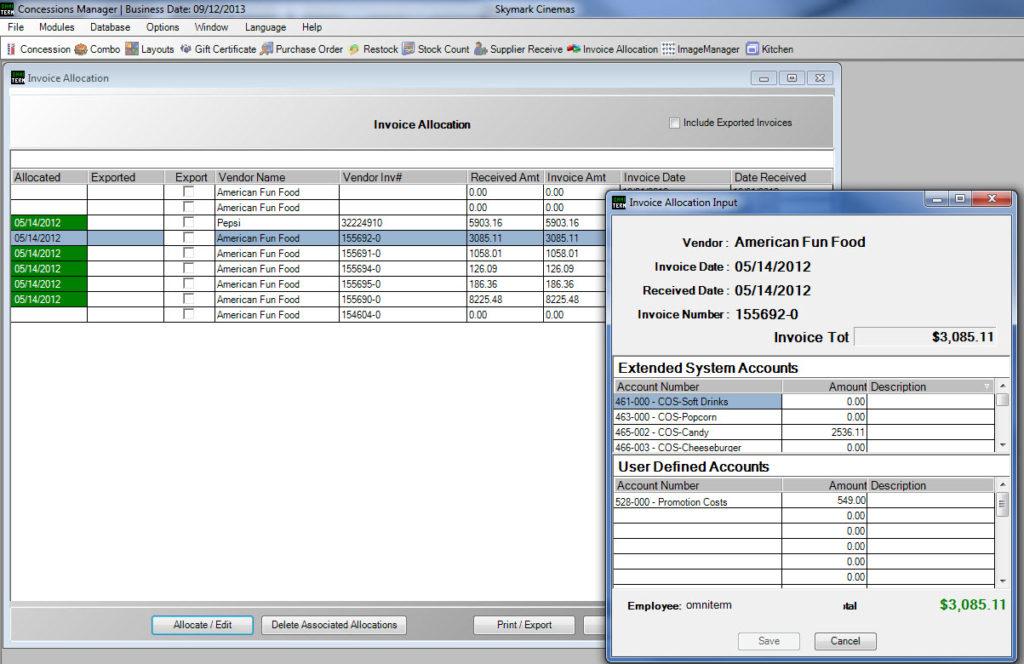 OMNITERM Concession Manager