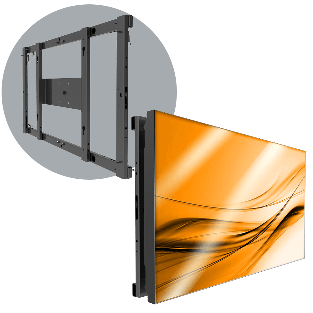 MVFS 1X1 Modular Single LCD Wall Mount