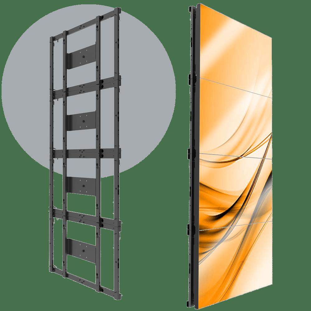 MVFS 1X4 Modular 1X4 LCD Wall Mount