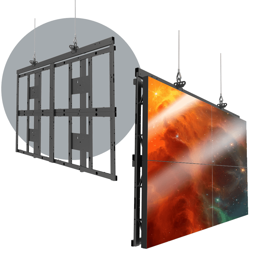 HoverGrid 2X2 Flyable 2X2 Landscape Video Wall Frame System