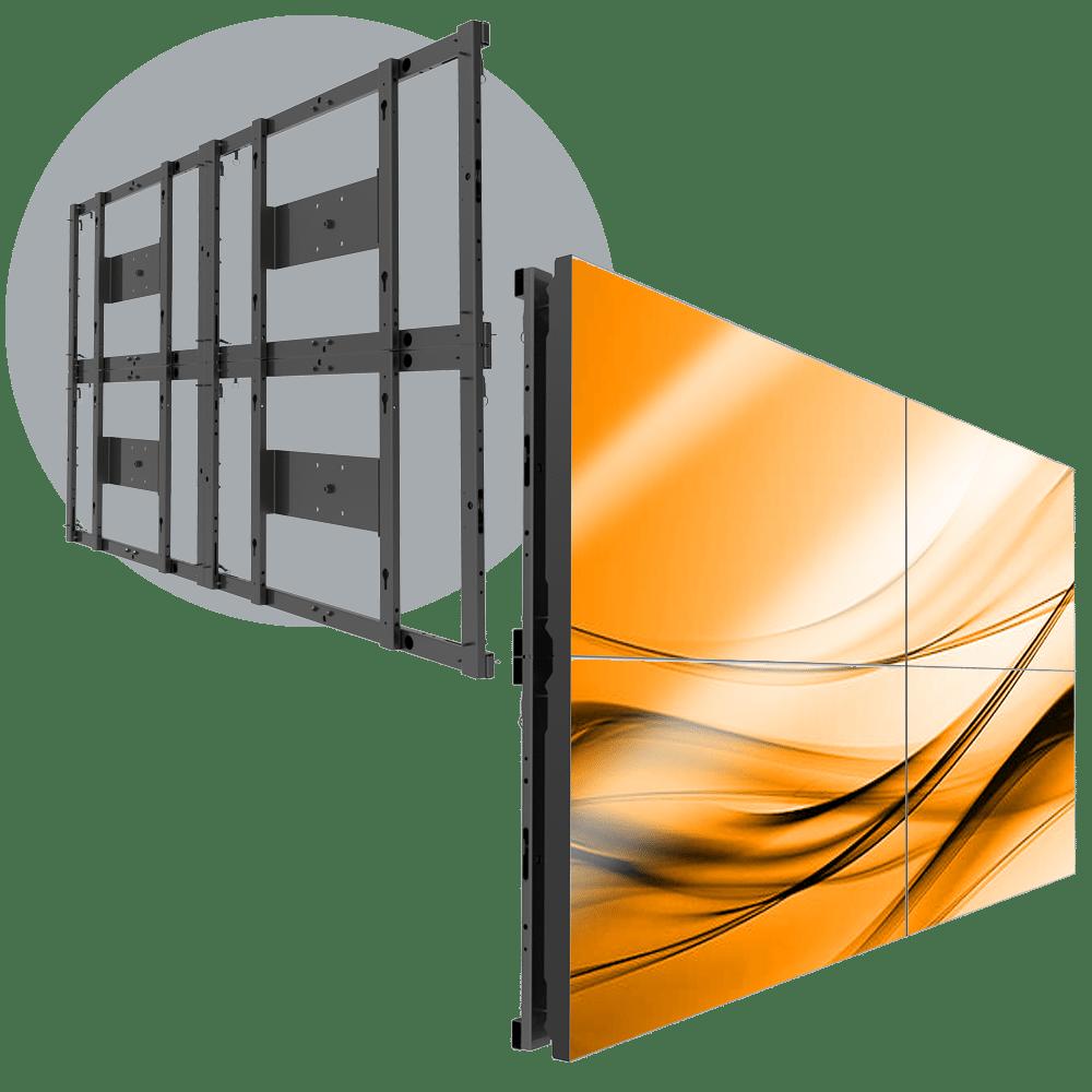 MVFS 2X2 Modular 2X2 LCD Wall Mount