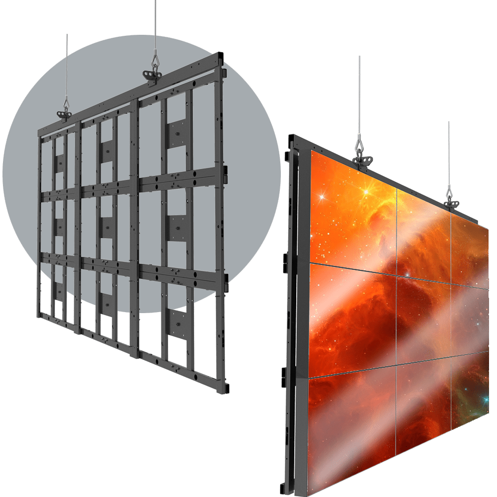 HoverGrid 3X3 Flyable 3X3 Landscape Video Wall Frame System