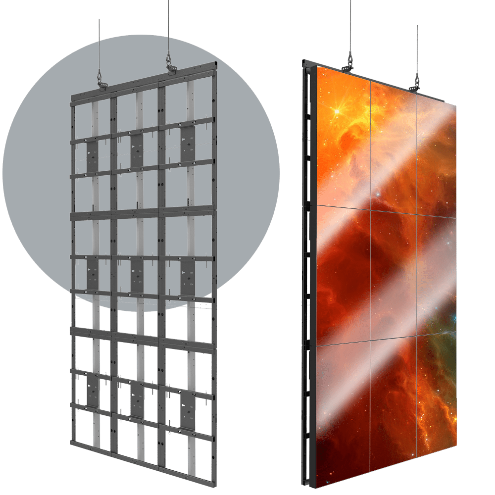 HoverGrid 3X3 Flyable 3X3 Portrait Video Wall Frame System