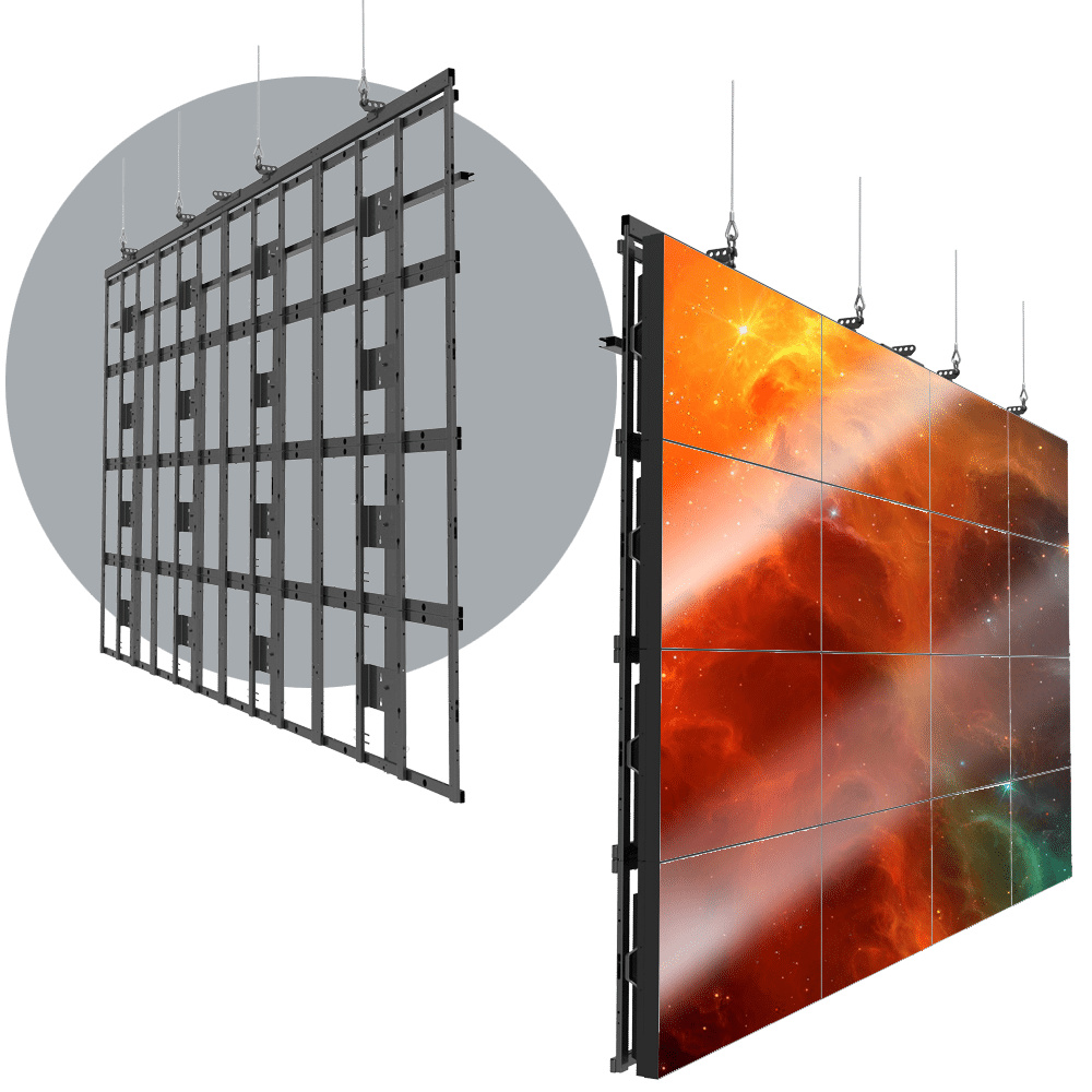 HoverGrid 4X4 Flyable 4X4 Landscape Video Wall Frame System - Magna