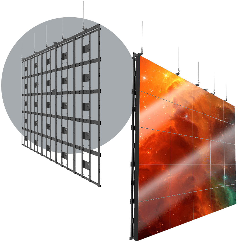HoverGrid 5X5 Flyable 5X5 Landscape Video Wall Frame System
