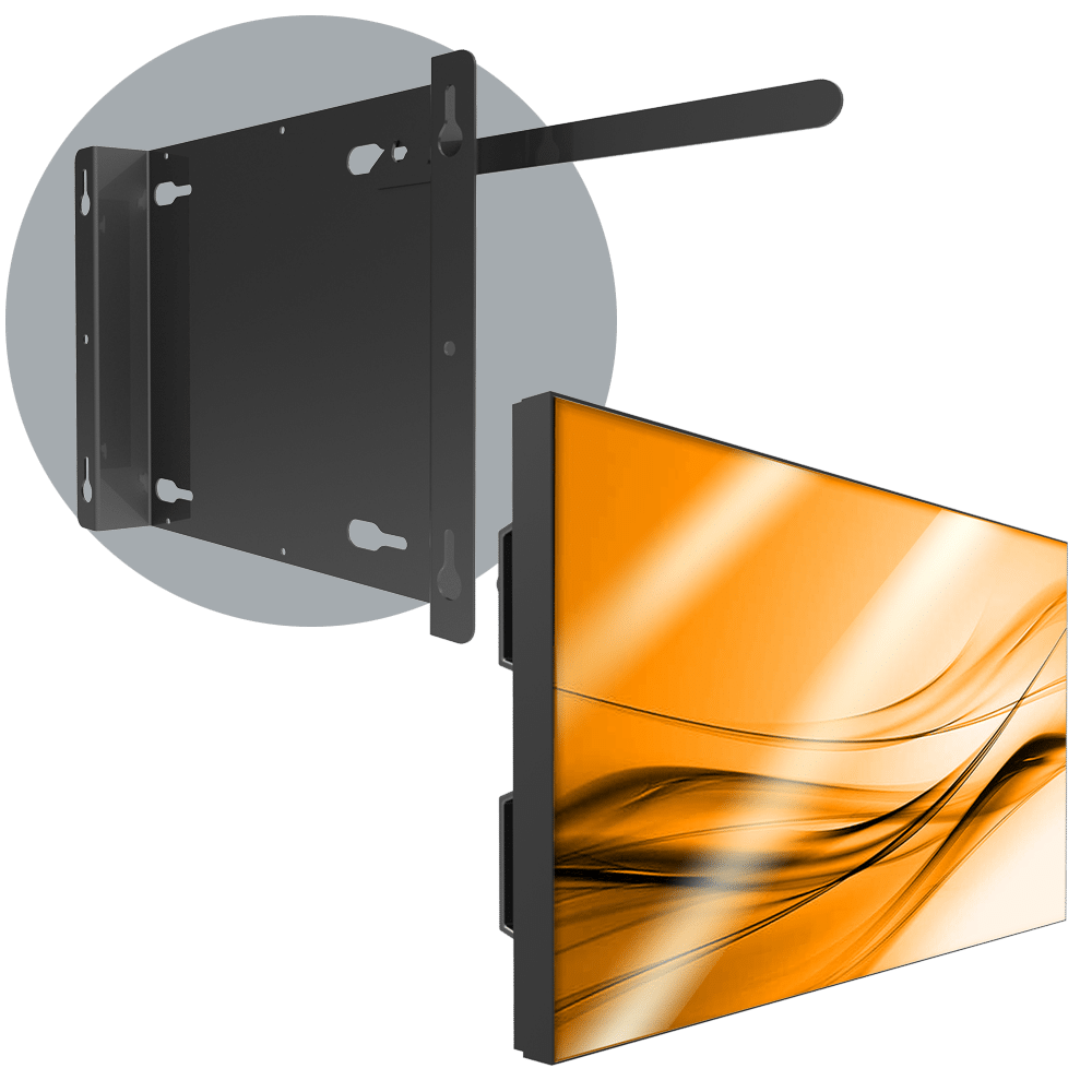 VWD 1X1 Permanent Single LCD Wall Mount