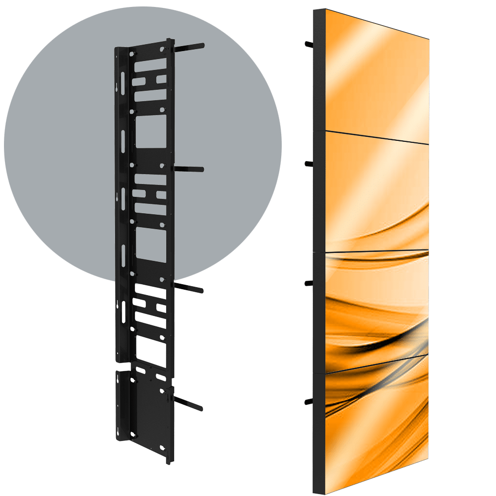 VWD 1X4 Permanent 1X4 LCD Wall Mount