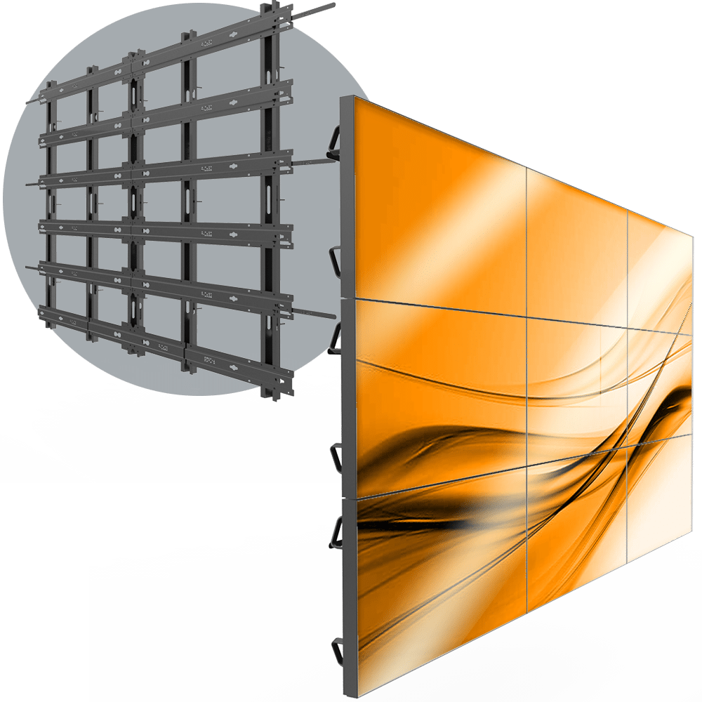 VWD 3X3 Permanent 3X3 LCD Wall Mount