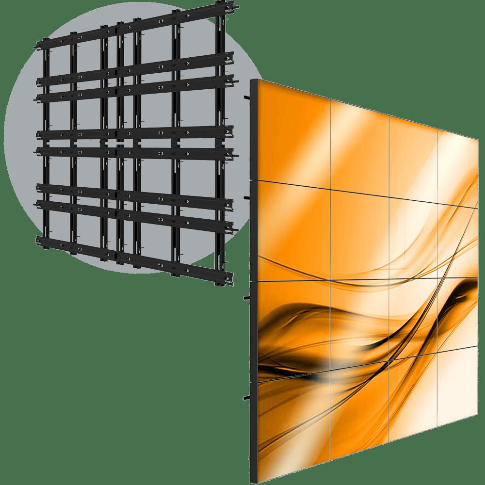 VWD 4X4 Permanent 4X4 LCD Wall Mount