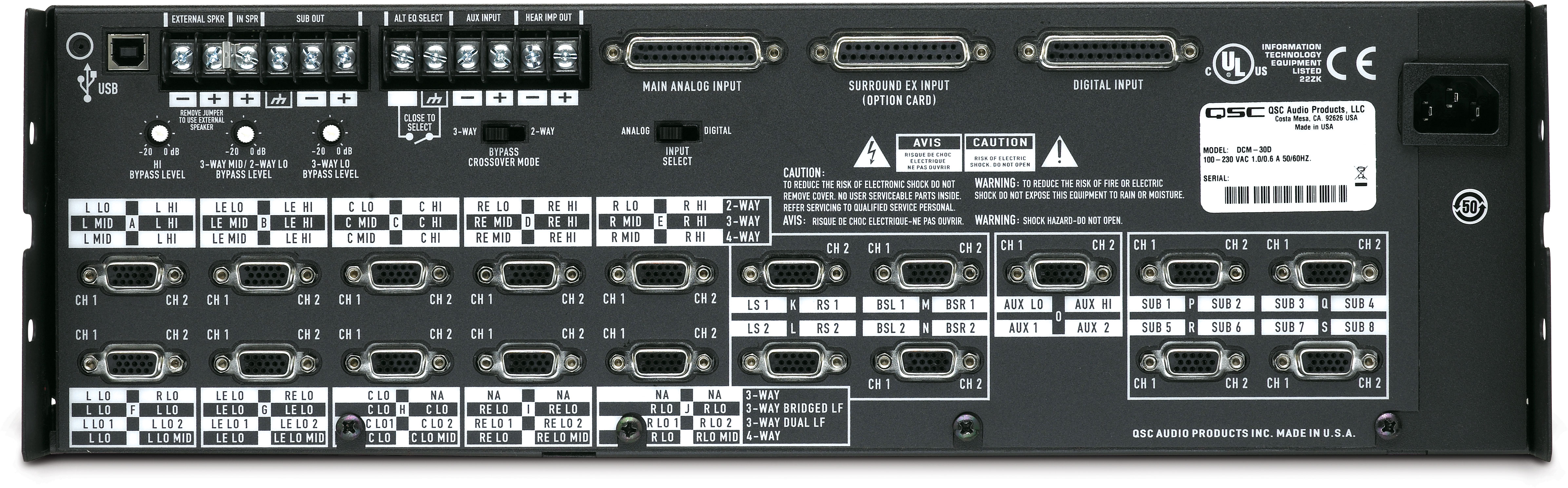 QSC DCM 30D
