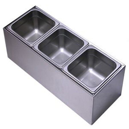 3 Pan Condiment Holder