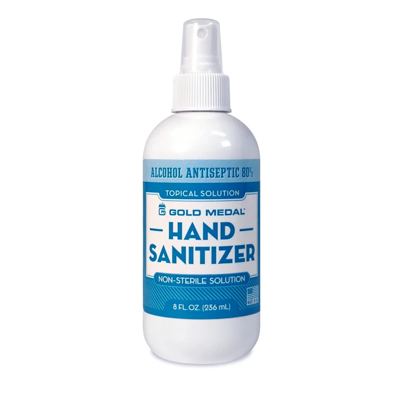 Hand Sanitizer (Alcohol Antiseptic 80%) 8-oz. Spray Bottle (6/case)